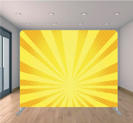 yellow shine backdrop